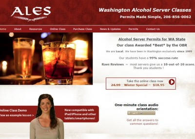 ALES Washington E-Learning Course & Website