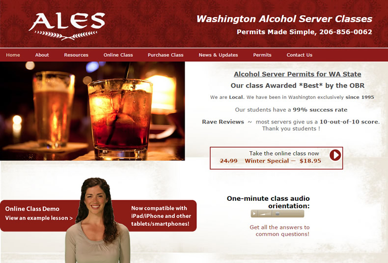 ALES Washington E-Learning Course & Website