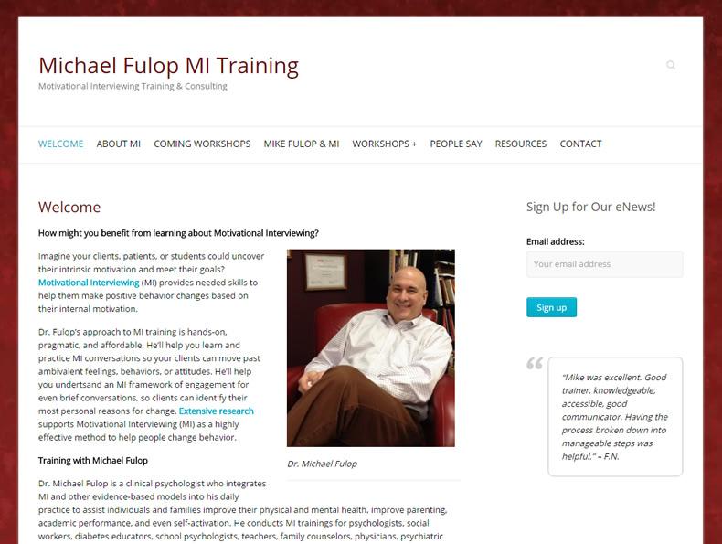 Michael Fulop MI Training
