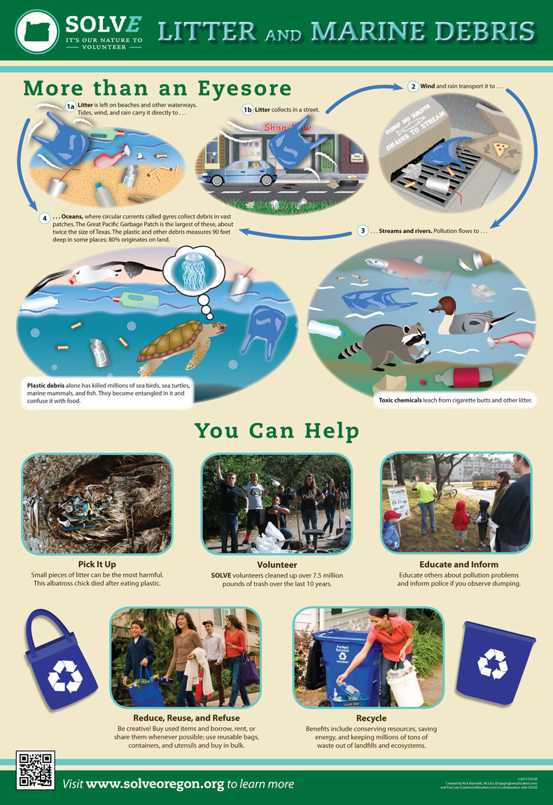 Litter Amp Marine Debris Education Poster Engaging Press