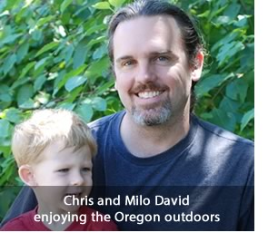 Chris and Milo David enjoying the Oregon Outdoors