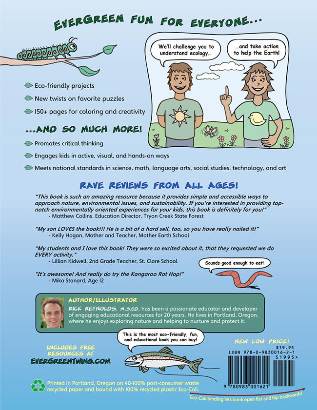 The EverGreen Twins Activity Book - Back Cover